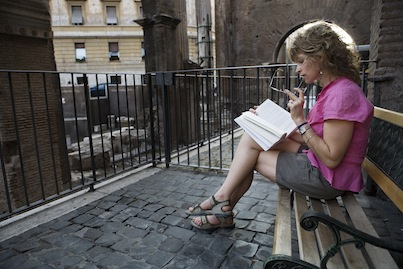 A young woman reading, Rome